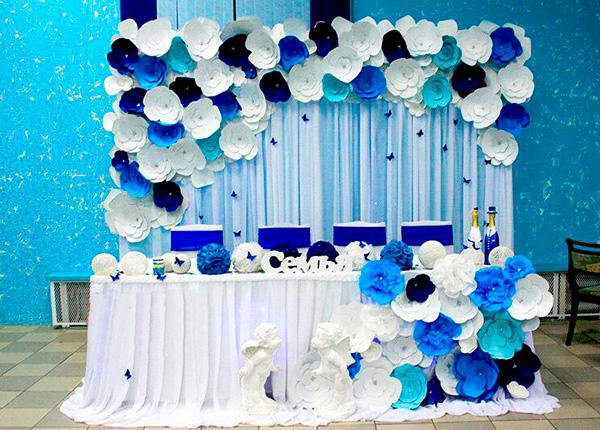 Как сделать синюю бумагу из белой